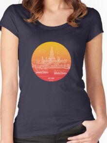 Wat Arun - Day Women's Fitted Scoop T-Shirt