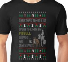 Spend Time With My Pitbull Shopping Christmas Ugly T-Shirt Unisex T-Shirt