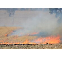 Stubble Burn Photographic Print