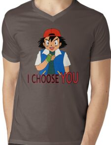 I Choose You Mens V-Neck T-Shirt