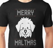 Merry Maltmas Ugly Christmas Sweater T Shirt T-Shirt Unisex T-Shirt