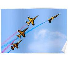 Four Korean T-50B Golden Eagles Poster
