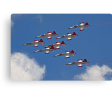 NF-5As and NF-5Bs of the Turkish Stars Canvas Print