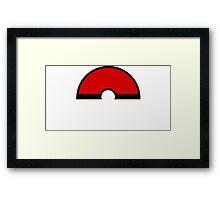 Pokemon - Pokeball WHITE Red Framed Print