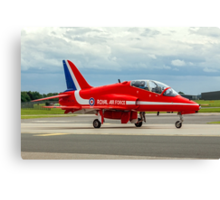 Red Ten Taxies in Canvas Print