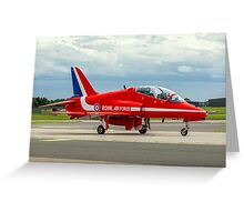 Red Ten Taxies in Greeting Card