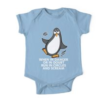 When in Danger or in Doubt Funny Penguin One Piece - Short Sleeve