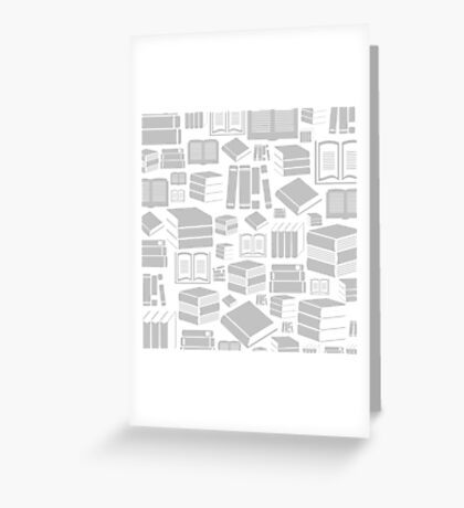 Book a background Greeting Card