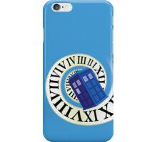 TARDIS in time iPhone Case/Skin