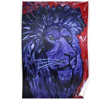 Majestic Purple Royal Lion Poster