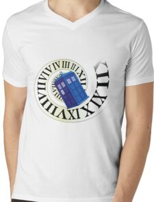 TARDIS in time Mens V-Neck T-Shirt