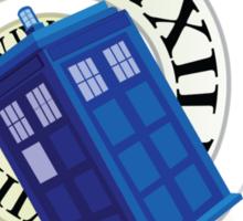 TARDIS in time Sticker