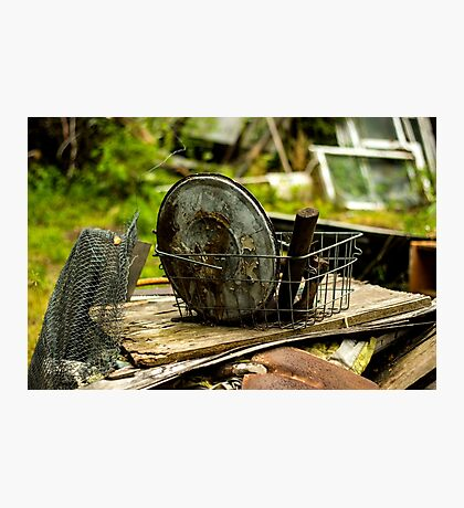 Old Metal and Wooden Stuff/Objects - Object Photography Photographic Print
