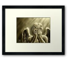 Peeping Angel Framed Print