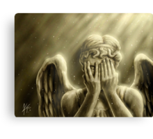 Peeping Angel Canvas Print