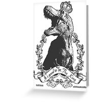 Its Good to be the King (Black and White) Greeting Card