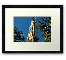 Old Cathedral Between the Trees - Travel Photography Framed Print