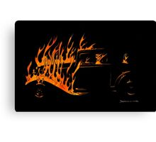 Real Flames Canvas Print