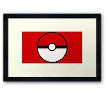 Pokemon - Pokeball RED WHITE Framed Print