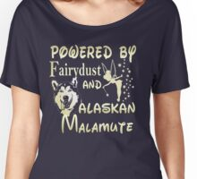 Powered by Faridust and Alaskan Malamute  Women's Relaxed Fit T-Shirt