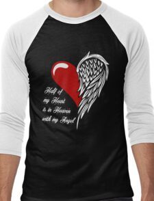 Half of my heart is in heaven with my angel T-shirt Men's Baseball ¾ T-Shirt