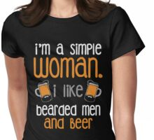 I like bearded men and beer shirt Womens Fitted T-Shirt