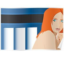 Blue Pond Pin Up Poster