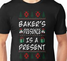 Baker Presence Is Present Christmas Ugly Sweater T-Shirt Unisex T-Shirt