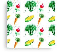 Watercolor vegetables design Canvas Print