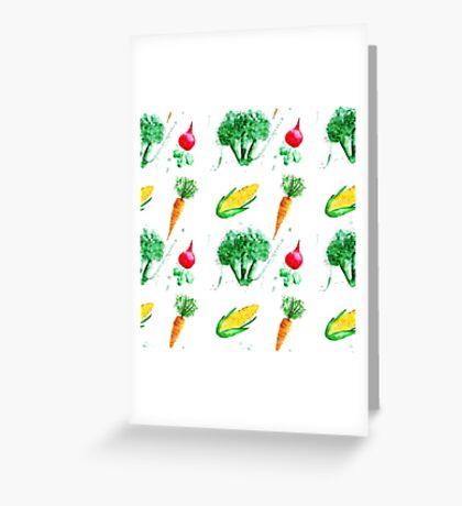 Watercolor vegetables design Greeting Card