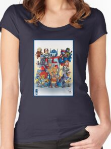 80's Cartoon Mashup Women's Fitted Scoop T-Shirt