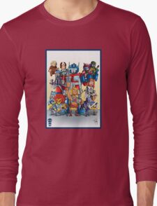 80's Cartoon Mashup Long Sleeve T-Shirt