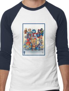 80's Cartoon Mashup Men's Baseball ¾ T-Shirt