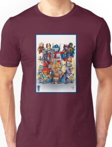 80's Cartoon Mashup Unisex T-Shirt