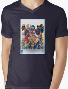 80's Cartoon Mashup Mens V-Neck T-Shirt