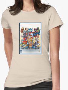 80's Cartoon Mashup Womens Fitted T-Shirt