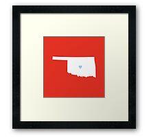 Oklahoma Love Framed Print