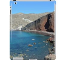View of the seacoast and the beautiful Red beach. Santorini island, Greece iPad Case/Skin