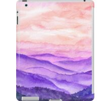 Hand drawn watercolor landscape of asian hills iPad Case/Skin