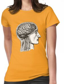 Anatomy of the Brain Womens Fitted T-Shirt