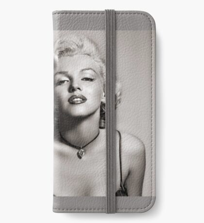 Marylin Monroe Portrait Black and White iPhone Wallet/Case/Skin