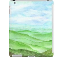 Hand drawn watercolor Landscape of highland iPad Case/Skin
