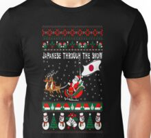 Japanese Through The Snow Christmas Ugly Sweater T-Shirt Unisex T-Shirt