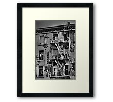 Chinese Laundry - B&W Framed Print