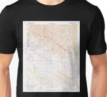 USGS TOPO Map California CA Seven Palms Valley 300418 1958 24000 geo Unisex T-Shirt