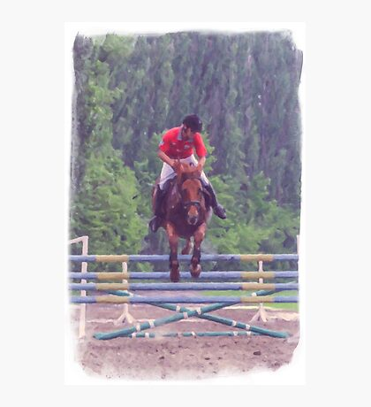 Competition on horseback Photographic Print