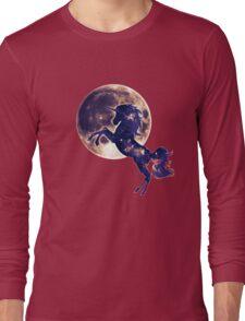 Space unicorn, moon, fullmoon, fantasy, magic, horse, fantastic, beast Long Sleeve T-Shirt