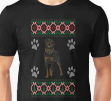 Rottweiler Dog Ugly Christmas Sweater T Shirt T-Shirt Unisex T-Shirt