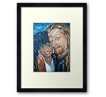 """In Love"" - Interracial Lovers Series by Yesi Casanova Framed Print"