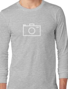 Modern Camera Graphic (white) Long Sleeve T-Shirt